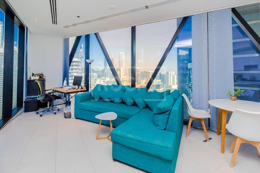 Brand New | Fully Furnished | 2 Bed | Full Burj Khalifa View