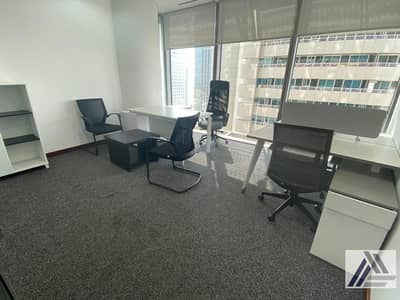 Office for Rent in Bur Dubai, Dubai - Brand New Furnished Office! Including All Utilities! Linked with Burjuman Mall and Metro