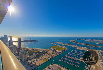 شقة 1 غرفة نوم للايجار في دبي مارينا، دبي - Huge Luxury Apartment with BLUE WATER VIEW