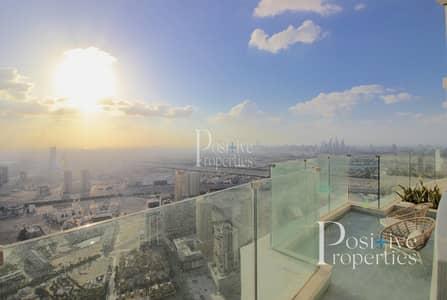 شقة 4 غرف نوم للبيع في قرية جميرا الدائرية، دبي - Panoramic skyline view | Private Pool | Spacious