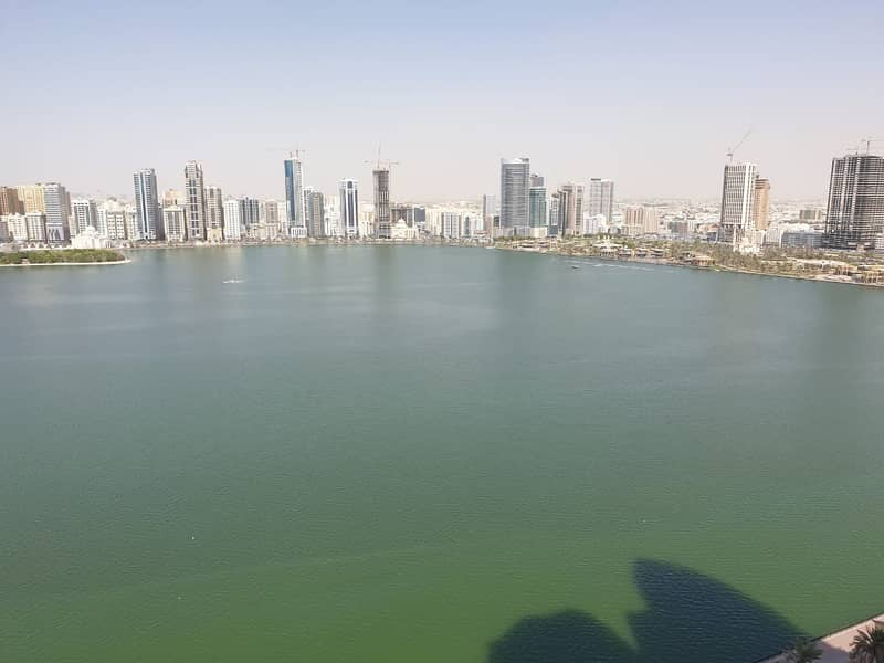 Stunning  view, luxury 3bh apartment all master rooms,  gympool parking in al majaz 3 buhaira corniche sharjah