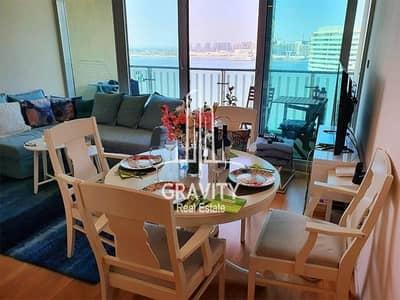 فلیٹ 1 غرفة نوم للايجار في شاطئ الراحة، أبوظبي - Furnished Apt W/ Breathtaking Sea View |Vacant Now
