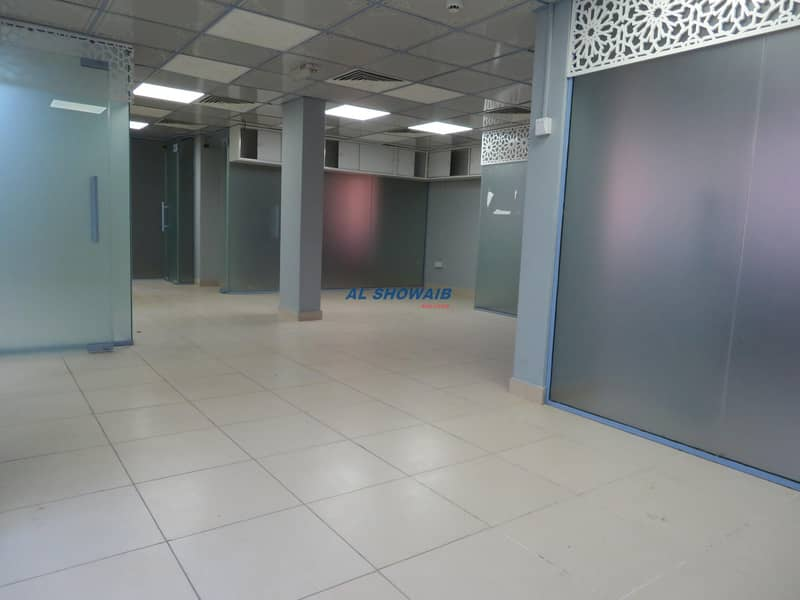 2 677 SQ FT| FITTED OFFICE |45 DAYS FREE |OPP HSBC BANK| BURDUBAI