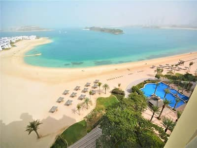2 Bedroom Apartment for Rent in Palm Jumeirah, Dubai - Full sea view – Type F – Large 2BR with Maids' Room