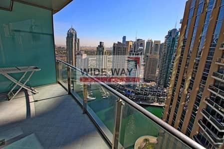 3 Bedroom Flat for Rent in Dubai Marina, Dubai -  2 Balconies w/Stunning Sea n Marina View!!
