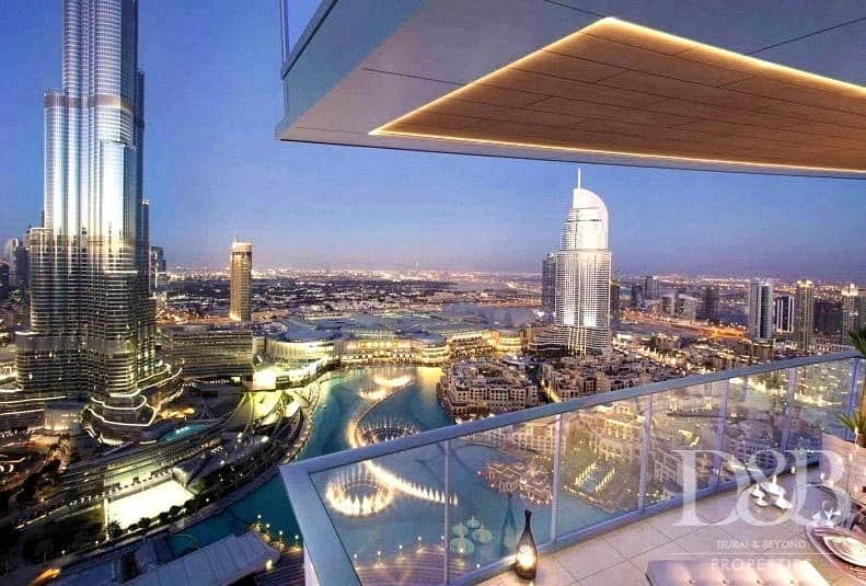 Pay Over 4 Years | Full Burj & Fountain Views