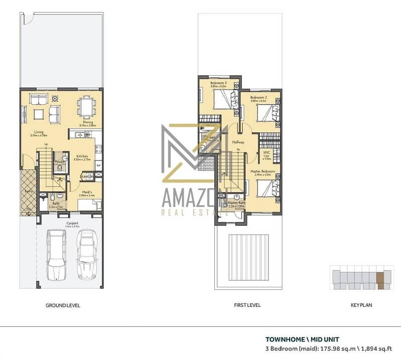 2 3 Bedroom + Maid | 40% UpFront-60% Hand Over | Amaranta Villanova