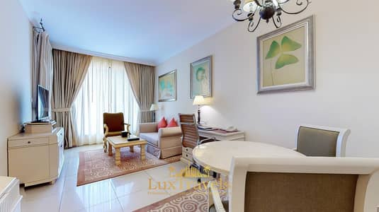 1 Bedroom Apartment for Rent in Barsha Heights (Tecom), Dubai - Lux BnB 1BD Serviced Apartment/ Balcony/ Pool