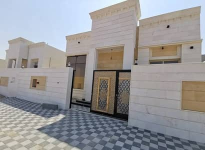3 Bedroom Villa for Sale in Al Yasmeen, Ajman - Without a down payment, a Syrian stone face villa, central air conditioning, with a luxurious hotel design and a personal finishing, super deluxe, free ownership for life for all nationalities, with a privileged location, a service area less than a minute