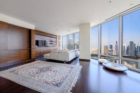 فلیٹ 3 غرف نوم للايجار في وسط مدينة دبي، دبي - Burj Khalifa.3 Bed plus Maid.Zabeel View.Higher Floor.Vacant