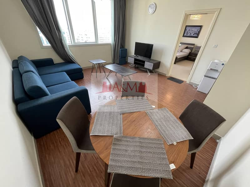 2 FULLY FURNISHED.: One Bedroom Apartment with Basement parking for AED 60