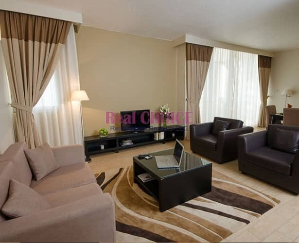 2 Fully furnished 1BR Hotel Apartment|SZR Near Metro