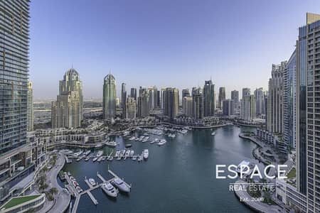 2 Bedroom Apartment for Sale in Dubai Marina, Dubai - Two Bed | 1372 sq ft | Full Marina View