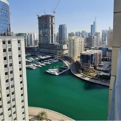 فلیٹ 3 غرف نوم للايجار في دبي مارينا، دبي - Higher floor 3BR Marina and Sea view Huge balcony