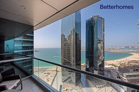 شقة 3 غرف نوم للبيع في جميرا بيتش ريزيدنس، دبي - Exclusive| Vacant| High Floor| Sea View| Maids
