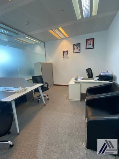 Office for Rent in Bur Dubai, Dubai - Deal of the weak| Serviced and Furnished Office Good For 0 Staff BurJuman Business Tower