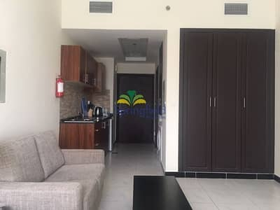 Studio for Rent in Jumeirah Village Circle (JVC), Dubai - Fully Furnished   Pool View  from Balcony