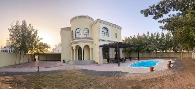 5 Bedroom Villa for Rent in Al Warqaa, Dubai - LUXURIOUS 05 B/R VILLA    SWIMMING POOL   OUTSIDE KITCHEN   SERVANT QUARTERS