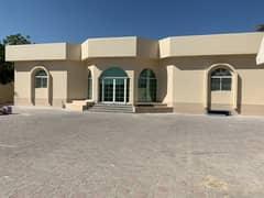 Villa for rent in Ajman Al Hamidiyah, 4 rooms, a majlis, a hall, and air conditioning, only 70,000 dirhams