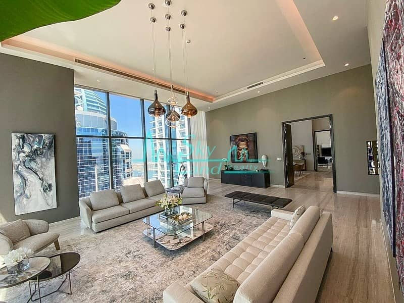 Marina Gate Penthouse on 61st floor|4-BR Sky View|5810sq.ft