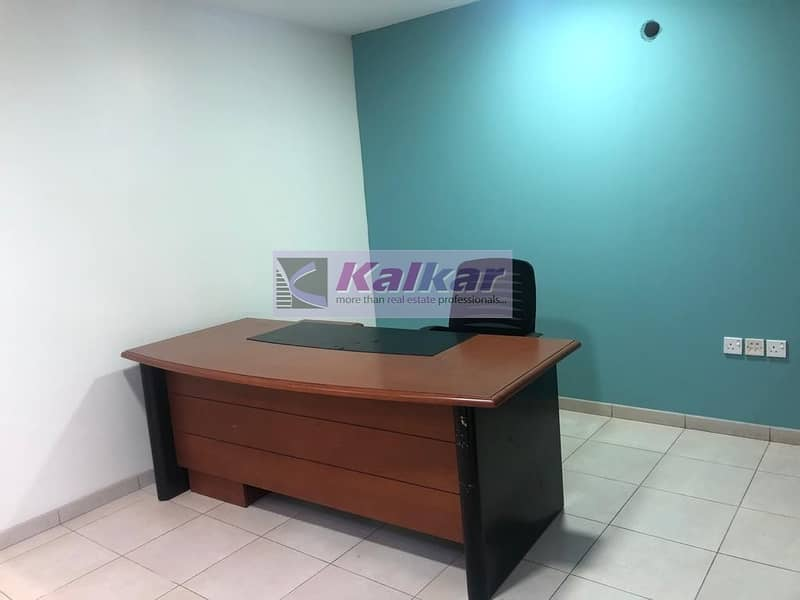 !! GOOD LOCATION 3000 SQFT FURNISHED OFFICE IN ALQUOZ AED: 250