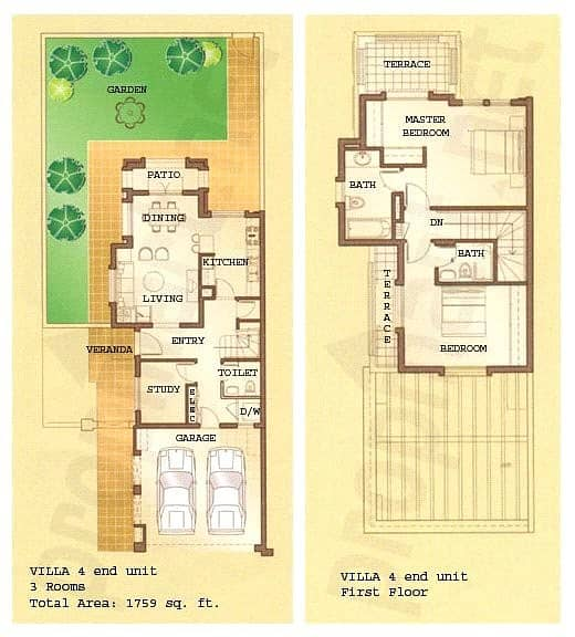10 2 Bedrooms | Type 4E | Lake View | Villa
