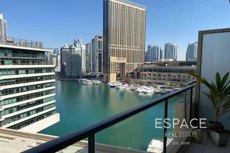 2 Bedroom Flat for Rent in Dubai Marina, Dubai - Marina Quays - Marina Views - Duplex