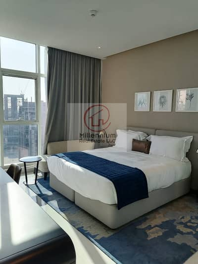 1 Bedroom Hotel Apartment for Rent in Business Bay, Dubai - brend new full canal view and Burj Khalifa view  high floor 1 bedroom hotel apartment