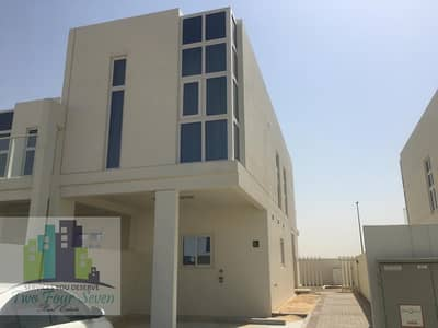 3 Bedroom Townhouse for Sale in Akoya Oxygen, Dubai - SINGLE ROW DESERT VIEW 3BED+M END UNIT