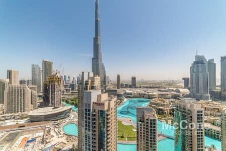 2 Bedroom Apartment for Rent in Downtown Dubai, Dubai - Burj Khalifa & Fountain Views | High Floor