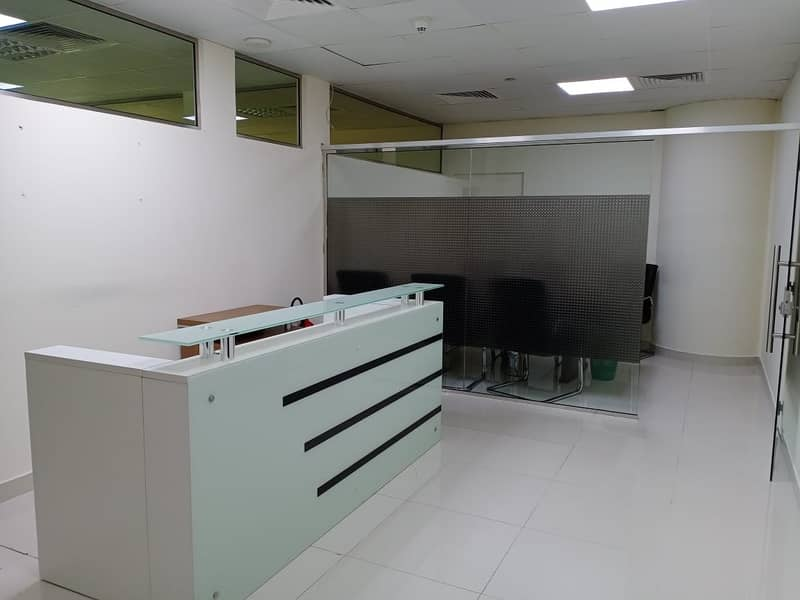 2 Exclusive | Fully Fitted Office with partition | Multiple Parkings