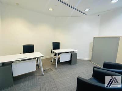 مکتب  للايجار في بر دبي، دبي - Serviced Furnished Office Suitable for 2 persons / Linked with Metro/Monthly