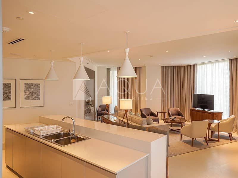 3 Bedroom + Maid Room Serviced Apartment