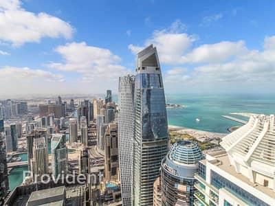 3 Bedroom Apartment for Rent in Dubai Marina, Dubai - High Floor | Upgraded | Sea & Palm View