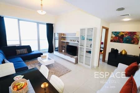 1 Bedroom Apartment for Rent in Dubai Marina, Dubai - Skyline View - High Floor - Furnished