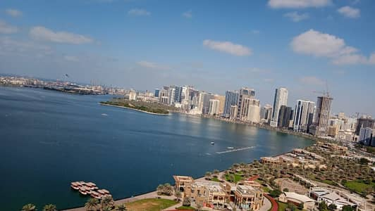 3 Bedroom Flat for Rent in Corniche Al Buhaira, Sharjah - 1 month free,  no Deposit chiller free luxury 3bh apartment all master rooms,  gym pool parking at buhaira corniche sharjah