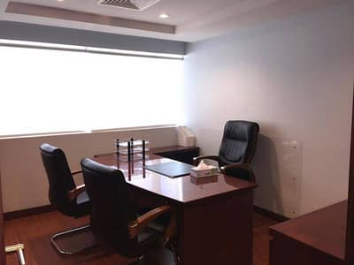 1-month free Fully furnish Chiller free Office | En-suit pantry toilet | 646sqft | 79000 Aed 6 cheqs