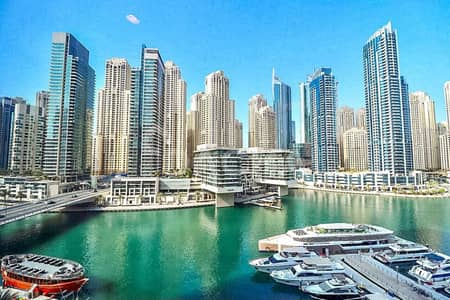 1 Bedroom Apartment for Rent in Dubai Marina, Dubai - Spectacular Marina View / Brand New  / Chiller Included