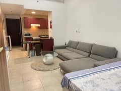 Fully Furnished Spacious Bright Studio With Balcony