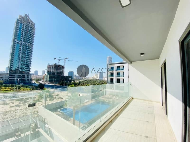 11 Pool View 1BR W/Maid|Huge Balcony|Highly Finished