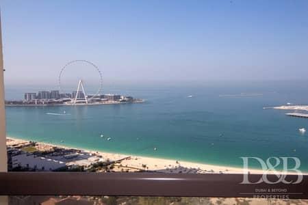 شقة 2 غرفة نوم للايجار في جميرا بيتش ريزيدنس، دبي - Full Sea View | Fully Furnished | High Floor