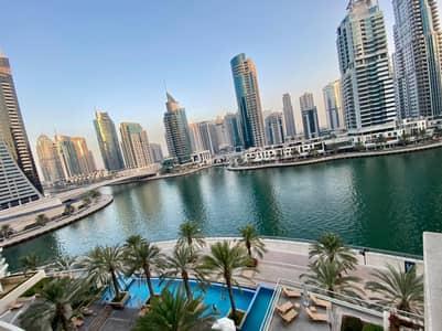 فلیٹ 1 غرفة نوم للايجار في دبي مارينا، دبي - FULL MARINA VIEW| LOW FLOOR | AVAILABLE