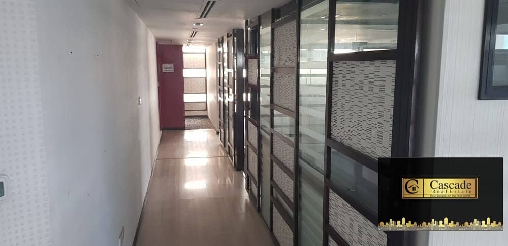 16 Deira : Maktoum Street - 2700sqft fitted office space with C a/c and parking  inwell maintain bldg  available for rent .