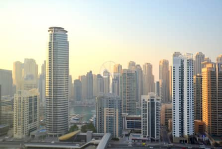 1 Bedroom Apartment for Rent in Jumeirah Lake Towers (JLT), Dubai - Balcony On High Floor With JBR Beautiful View