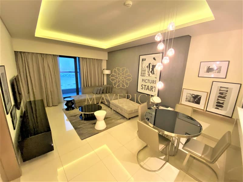 Luxury Furnished 1BR | Iconic View | 4 Cheques