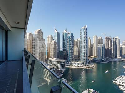 2 Bedroom Apartment for Rent in Dubai Marina, Dubai - Big Layout | Full Marina View | High Floor