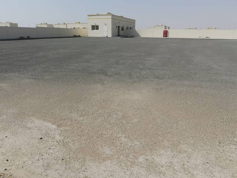 20,000 Sqft up to 80,000 Sq ft fully concrete land available on sharing basis in Ras Al Khor at AED 9 per Sq ft
