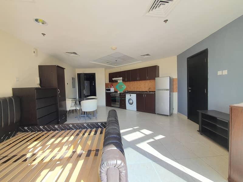 10 Huge Balcony Furnished Studio | Corner Unit |