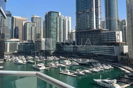 شقة 2 غرفة نوم للبيع في دبي مارينا، دبي - Fully Upgraded w/ Full Marina View | Study room