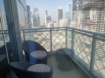 فلیٹ 2 غرفة نوم للايجار في الخليج التجاري، دبي - Furnished 2 Bed + Store Room  At Westburry Tower